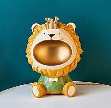 KLHHG Lion 3D, Figurine Miniature, Statue,