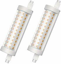 Klighten Ampoule R7S LED 118 mm 15W Blanc Chaud