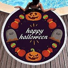 KLily Couverture À Motif Halloween, Serviette De