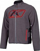 Klim Torch S20 veste textile male    - Gris/Rouge