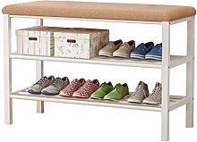 KMMK Banc À Chaussures Étagère À Chaussures