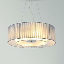 KMMK Lustre tissu abat-jour led lustre éclairage