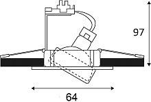 KO1012S04 - Spot à encastrer orientable GU4 35W -