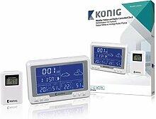 König Horloge Radio Station météo avec capteur