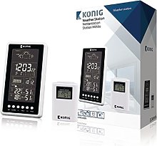 König Roi Station météo avec Horloge Radio et