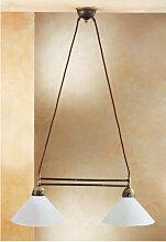 Kolarz - Chandelier NONNA laiton antique 2 ampoules