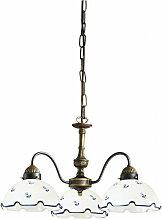 Kolarz - Chandelier NONNA laiton antique 3 ampoules