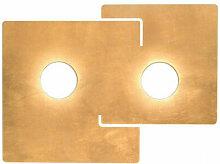Kolarz - Plafonnier SQUARE blanc 2 ampoules, abat