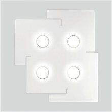 Kolarz - Plafonnier SQUARE blanc 4 ampoules