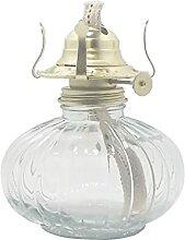 KOLIT Hauteur 32 cm Lampe à Huile Rétro en Verre