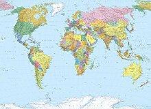 Komar Photo Murale, 254cm x 184cm, Carte du Monde