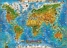 KONGWST 1500 Pièces De Puzzle En Bois Histoire