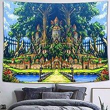 KONZFV tapisserieConte de fées Fantasy Forest