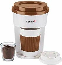 Korona 12202 Cafetière en marron/blanc  