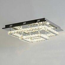 Kosilum - Plafonnier LED cristal 2 carrés design