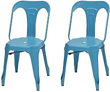 KRAFT Zoeli Lot de 2 chaises de salle a manger -