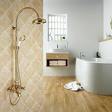 Kroos - Colonne de douche mélangeur style doré
