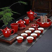 Ksnrang 霁 Tea Blue Set Accueil Salon Simple
