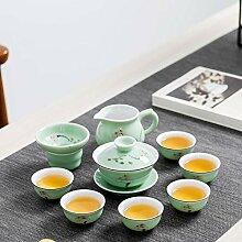 Ksnrang Céladon Poisson Tasse Tasse à thé