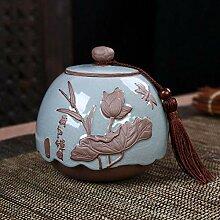 Ksnrang Céramique Thé Cans Boîte Cadeau Version