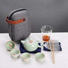 Ksnrang Céramique Travel Tea Tasse Thé Ensemble