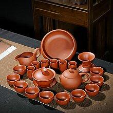 Ksnrang Ensemble à thé Zisha Xishi Pot