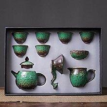 Ksnrang Ensemble de thé en céramique Tasse à