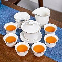 Ksnrang Mi-Automne Cadeau Tasse à thé Ensemble