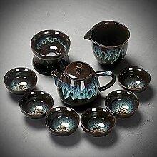 Ksnrang Tasse de thé 10 céramique Sable Or