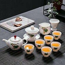 Ksnrang Tasse de thé Tasse de thé Bleu et Blanc