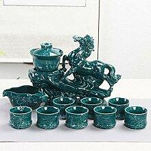Ksnrang Tea Set Ménage Purple Sand Simple