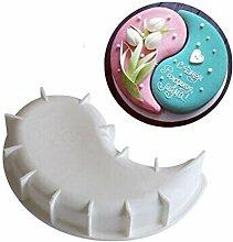 Kunyu 1 moule à gâteau en silicone blanc pour la