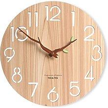 Kuyoly Horloge murale multifonction en bois avec