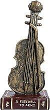 KZXC Violon Statue résine Violon Figurine