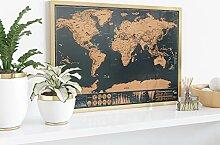 L+H Carte du monde à gratter | Carte du monde à