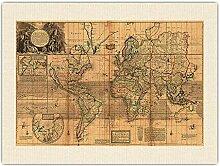 La Carte du Monde Entier - Colonies de la