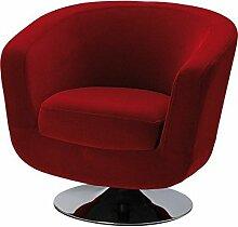 La Chaise Longue Fauteuil DE Bar Velours Rouge,