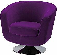 La Chaise Longue Fauteuil DE Bar Velours Violet,