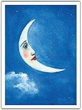 La Lune (Mahina) Hawaii - Peinture de Couleur de