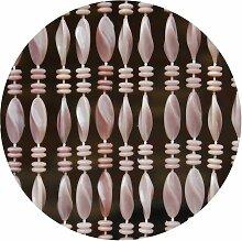 La Tenda - Rideau de porte brun marbre Genoa