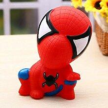 La tirelire spiderman mignonne, pas peur de tomber