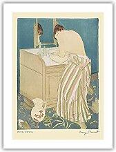 La Toilette - Art nudité de Mary Cassatt c.1891 -