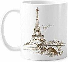 La Tour Eiffel Paris France Mug Poterie Céramique