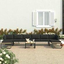 LAC Canapés d'angle de jardin 5 pcs et