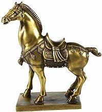 lachineuse Cheval Antique en CUIVRE Doré -