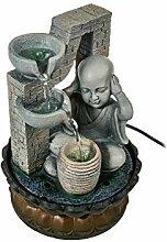 lachineuse Fontaine A Eau - Bonze Bouddhiste -