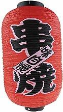 lachineuse LAMPION Japonais Rouge - Barbecue