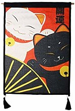 lachineuse Panneau Japonais Duo Maneki Neko