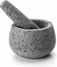 LACOR 60517 Mortier et Pilon, Granit, Gris, 12 cm
