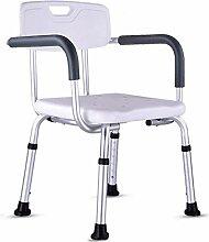 Ladder Chaise de Douche avec Bras, Tabouret de